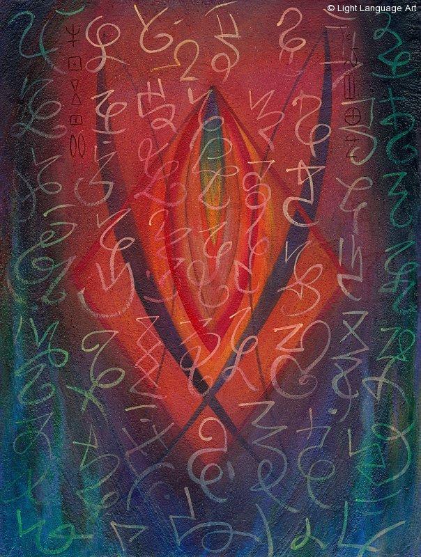 About light language art irene ingalls light language art